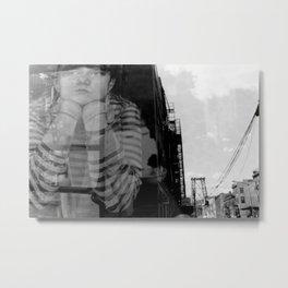 Williamsburg Bridge Analog Metal Print