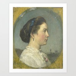 Jacob Maris - Portrait of Catharina Hendrika Horn, the Artist's Wife Art Print