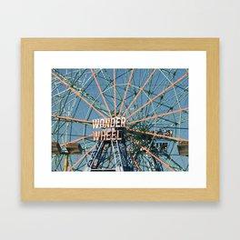 Wonder Wheel at Coney Island, Brooklyn, NYC - Ferris Wheel Framed Art Print