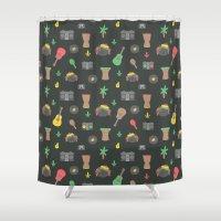 reggae Shower Curtains featuring Cute Reggae by Anna Alekseeva kostolom3000