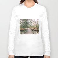 bridge Long Sleeve T-shirts featuring Bridge by Golden Sabine