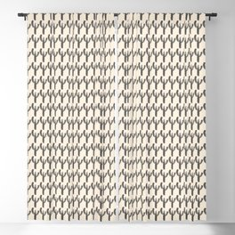 Multi Cactus Pattern 1 in Charcoal and Almond Cream Blackout Curtain