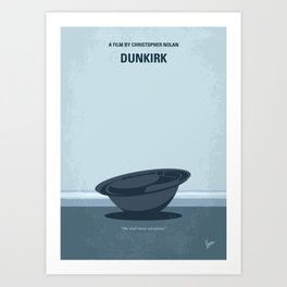 No905 My Dunkirk minimal movie poster Art Print