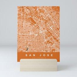SAN JOSE City Map - California US   Orange   More Colors, Review My Collections Mini Art Print