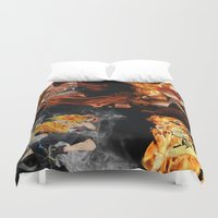 anime Duvet Covers featuring Anime VS Anime  by Pierre Venter