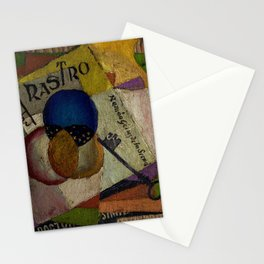'El Raso,' Diner, Fruit, and Wine Portrait by Diego Rivera Stationery Cards
