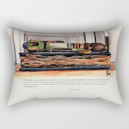 Every Song Ends Rectangular Pillow