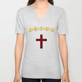 J*E*S*U*S logo inspired on M*A*S*H logo Unisex V-Neck