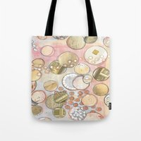 fancy Tote Bags featuring fanCy by Kras Arts - Fly Me To The Moon