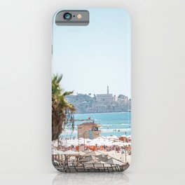 View of Old Jaffa from Gordon Beach, Tel Aviv, Israel iPhone Case