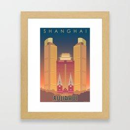 Shanghai (Xujiahui) Travel Poster  Framed Art Print