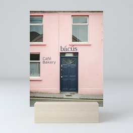 "Travel photography print ""Pastel pink bakery in Dingle Ireland"" - Blue and pink print door Mini Art Print"