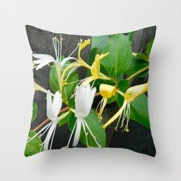 Honeysuckle 3 Throw Pillow