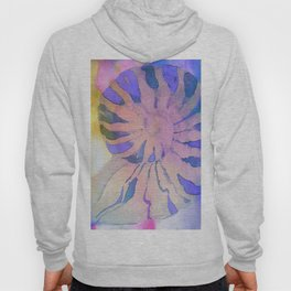 NAUTILUS SEA SHELL BLUE AND PURPLE IMPRESSIONS Hoody