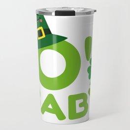 O' Baby St. Patrick's Day Mom To Be New Mom Travel Mug