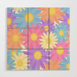 Floral Daisy Dahlia Flower Wood Wall Art