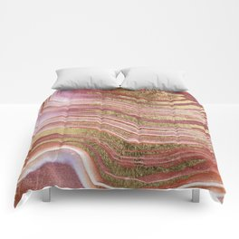 Abstract painting pink modern Comforters