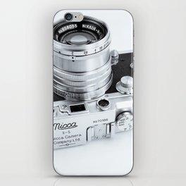 1950s Nicca 3-S 35mm Film Camera in Black & White iPhone Skin
