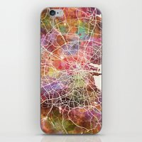 dublin iPhone & iPod Skins featuring Dublin map by MapMapMaps.Watercolors