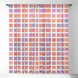 City Blocks - Love #947 Sheer Curtain