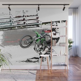 Making a Stand - Freestyle Motocross Rider Wall Mural