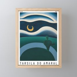 Tarsila do Amaral - A Lua - Art Poster Framed Mini Art Print