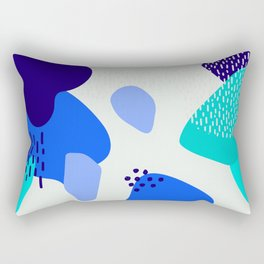 Blue abstract pattern Rectangular Pillow