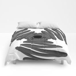Wired in Black and White Comforters