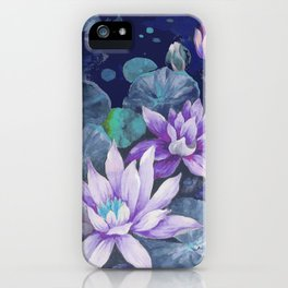 blue lake lilypads iPhone Case