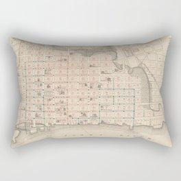 Vintage Map of Jacksonville FL (1878) Rectangular Pillow
