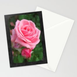 Pink Roses in Anzures 2 Blank P4F0 Stationery Cards