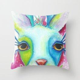 """Lady Llama"" Original Painting By Deb Harvey Throw Pillow"