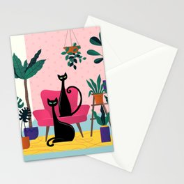 Sleek Black Cats Rule In This Urban Jungle Stationery Cards
