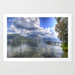 Traunsee Lake Altmunster Austria Art Print