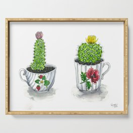 Teacup Cacti Serving Tray