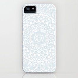 Minimal Minimalistic Light Cool Gray Mandala iPhone Case