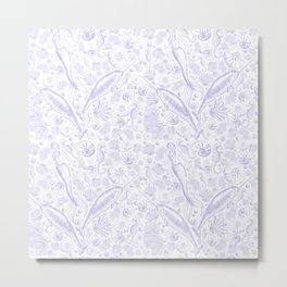 Mermaid Toile - Lavender Metal Print