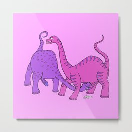 Before Time Began I (pink) Metal Print