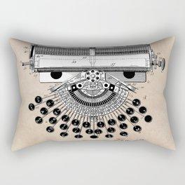 patent art type writing machine Rectangular Pillow