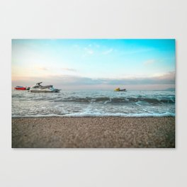 OCEAN - WAVE - RUNNERS - JET SKI - SEA - PHOTOGRAPHY Canvas Print