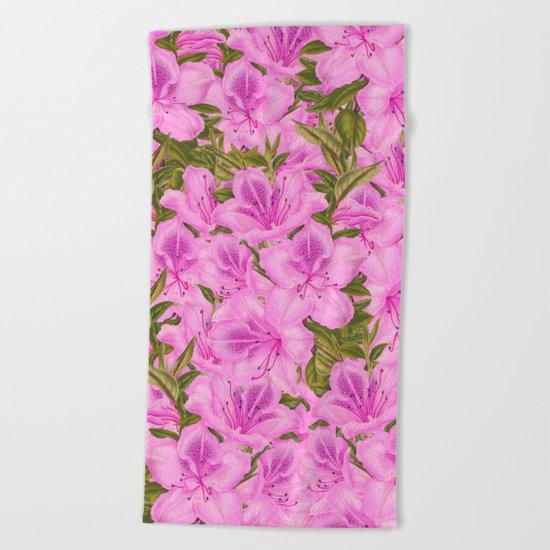 Violet Flowers Beach Towel