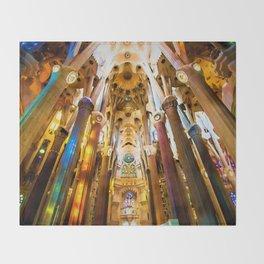 Sagrada Familia Art Work Throw Blanket