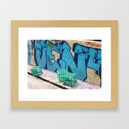 Crates. Framed Art Print