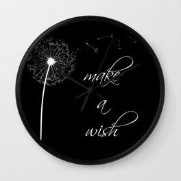 Make a wish - inverted Wall Clock