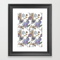 Ocarina Patterns Framed Art Print