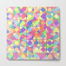 Vector colored mosaic pattern. Abstract geometric Metal Print