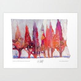 Cipressi Art Print