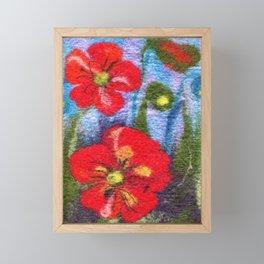 Poppy flowers Framed Mini Art Print