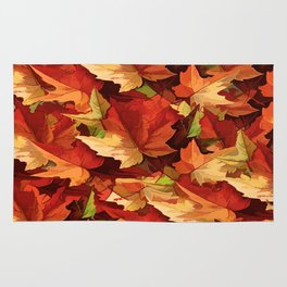 Autumn Leaves Abstract - Painterly Rug