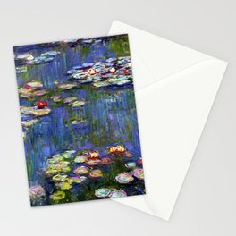 Claude Monet Water Lilies III Stationery Cards